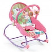 Baby Mix hordozható rezgő és zenélő elektromos hinta - pink
