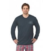 Trigema Herren Langarm-Shirt Größe: XXXL Material: 100 % Baumwolle, Ringgarn supergekämmt Farbe: anthrazit