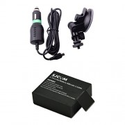 Battery For SJCAM SJ4000 SJ4000 wifi SJ5000 action sports camera Car Charger In Car Use + CarKit