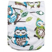 (LOVE MY) Baby Fitted Pocket Washable Reusable Cloth Diapers Fit for 6-33lbs Baby breathable Adjustable Snap(Lovely owl