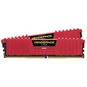 Corsair CMK8GX4M2A2666C16R Vengeance LPX Kit di Memoria RAM da 8 GB, 2x4 GB, DDR4, 2666 MHz, CL16 XMP 2.0 High Performance, Rosso