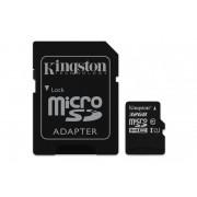 Card de memorie Micro SD Kingston, 32GB, SDC10G2/32GB, Clasa 10, cu adaptor SD