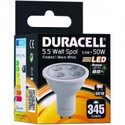 Duracell LED GU10 5.5W Frosted Spot Bulb (DRLEDS72)