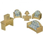 Plan Toy Doll House Living Room - Classic Style colors may vary