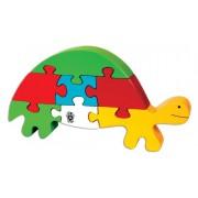 Skillofun Wooden Take Apart Puzzle Tortoise, Multi Color