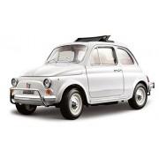 BBurago - 12035 - Voiture sans pile - Reproduction - Fiat 500 L Sun Roof (1968) - échelle 1/18- Coloris aléatoire