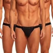 Papi [3 Pack] Cotton Stretch Jock Strap Underwear Black 980911