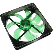 Ventilator Cooltek SILENT FAN 140 GREEN LED 140 mm, 63.7 CFM
