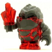 LEGO Power Miner Minifig Rock Monster Meltrox Trans-Red
