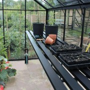 Växthushylla - Svart Till Odla 11,4 m²