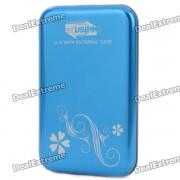 """2.5"""" USB 3.0 Mobile External Hard Drive Storage Device - Blue (500GB)"""