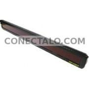 Rótulo electrónico de LEDs DisplayMatic de 120x7 LED rojo