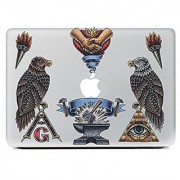 JMM - Eagles/Torch 3D Pattern Design Laptop Notebook Skin Sticker Cover Vinyl Art Decal for 11 13.3 15.6 inch Apple/D