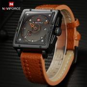 NAVIFORCE Men Watches Top Brand Luxury Casual Quartz Watch Dive Leather Sport Wristwatch relojes hombre Relogio masculino Clock