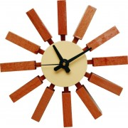 Replica George Nelson Block Clock - Natural Brown