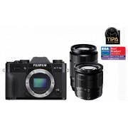 Fujifilm FinePix X-T10 kit (16-50mm + 50-230mm) (negru)