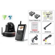Babyphone deluxe sans fil et son moniteur (PTZ, Vision nocturne, H.264, 300m de portée)