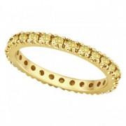 Fancy Yellow Canary Diamond Eternity Ring Band 14K Yellow Gold (0.51ct)