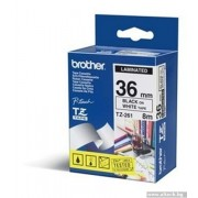BROTHER TZ Tape, 36mm Black on White, Laminated, 8m lenght, for P-Touch (TZE261)