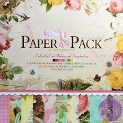 """AsianHobbyCrafts Designer Paper Pack by EnoGreeting : 12"""" x12"""" : (PS007) : 24 patterned papers and 3 Die Cut Sheets : Theme – Flowers"""