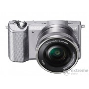 Aparat foto Sony Alpha 5000 (obectiv 16-50mm), argintiu