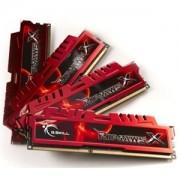 Memorie G.Skill RipJawsX 16GB (4x4GB) DDR3 PC3-14900 CL9 1.5V 1866MHz Intel Z97 Ready Dual/Quad Channel Kit, F3-14900CL9Q-16GBXL