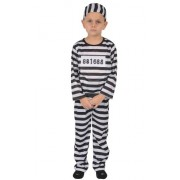 Dress Up America 570-S - Costume da Prigioniero per Bambini, S, 4-6 Anni, Multicolore