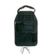 Hauck Cover Me Deluxe - Protector de respaldo para coche con bolsa de malla para almacenaje