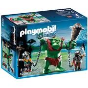 Playmobil Knights Giant Troll with Dwarf Fighters - figuras de construcción (Playmobil, Multicolor, Niño, 6000, 6001)