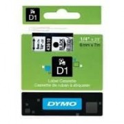 Dymo D1 Label Cassette 6mm x7m (SD43610) - Black on Transparant