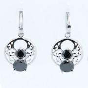 Cercei Din Argint 925 Cu Zirconii Negre