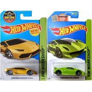 Lamborghini Hot Wheels Yellow Huracan New Casting 2015 2 Car Set Classic Green Sesto Elemento Workshop #222 Lp 610 4 Hw City #198 Speed Team 2014