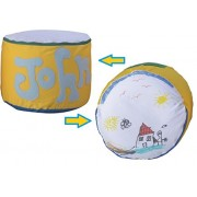 ArtPoufie - Craft My First personalize pouf Kit (Yellow/Blue with Green)