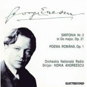 George Enescu - Simfonia nr 3 in Do major ,op 21 / Poema Romana ,op 1 (CD)