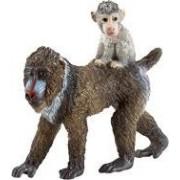 Schleich Mandril aap vrouwtje met jong 14716