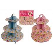 Supporto porta Cupcake e Muffin da 16 posti - Stand cartonato - Alzatina 35 cm