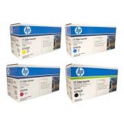 HP CE264X CF031A CF032A CF033A Set of 4 Colour Toner Cartridges
