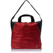 PUMA, Borsa a mano Donna Avenue Shopper, Rosso (Jester Red-Black-Snakeskin Graphic), 35 x 40 x 5 x cm