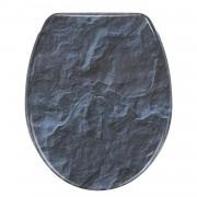 Wc-bril Slate Rock - blauw, Wenko