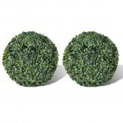 vidaXL Topiary krušpán z umelých listov 27cm 2 ks