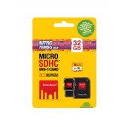 Strontium 32GB 466X Nitro UHSI Micro SD Memory Card Class 10 with Adapter Card Reader