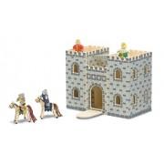 Melissa & Doug 13702 - Castillo de madera plegable y portátil