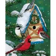 Springbok Winter Cottage Birdhouse 1000 Piece Jigsaw Puzzle