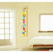 New Fashion Wall Decor Removable Sticker -Animal Friends Height Measure Growth Chart