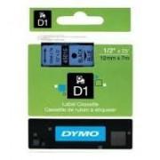 Dymo D1 Label Cassette 12mmx7m (SD45016) - Black on Blue