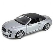 Bburago 118 Bentley Continental Supersport Convertible Silver