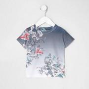 River Island Mini boys Navy floral snake print T-shirt
