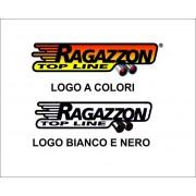 Adesivi Ragazzon Logo a colori o bianco e nero.