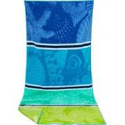 herrenausstatter.de Herrenausstatter Herren Strandtuch Baumwolle 180 x 100 cm grün-blau gestreift blau,grün