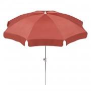 Parasol Ibiza - staal/polyester wit/terracottakleurig staal/wit polyester/terracottakleurig diameter: 240cm, Schneider Schirme